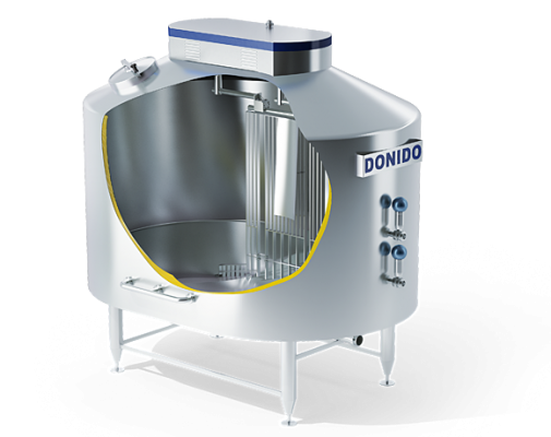 Mechanized vats for different types of cheese